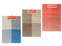 108 Units of Placemat In 3 Asst Colors - Placemats