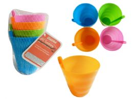 96 Units of 4pc Tumblers With Straw - Plastic Drinkware