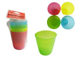 96 Units of 4pc Kid's Tumbler Cups In Net - Plastic Drinkware