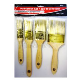 24 Units of 4 PIECE PAINTBRUSH SET - Paint and Supplies