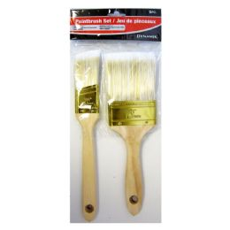 24 Units of 2 PIECE PAINTBRUSH SET - Paint and Supplies