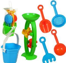 36 Units of 6 Piece Mini Sandmills W/ Tools - Beach Toys