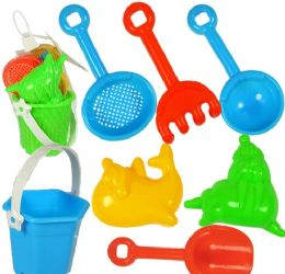 72 Units of 7 Piece Mini Sand Pail Playsets - Beach Toys