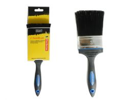 """72 Units of Paint Brush With Rubber Handle 3"""" Bristles - Paint and Supplies"""