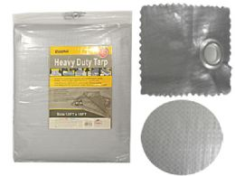 6 Units of Heavy Duty Tarp 12ftx16ft Silver - Tarps