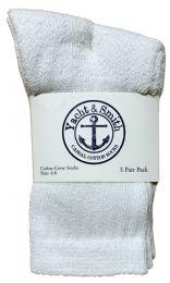 180 Units of Yacht & Smith Kids Cotton Crew Socks White Size 4-6 - Girls Crew Socks