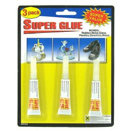 72 Units of 3 Pack super glue - Glue Office and School
