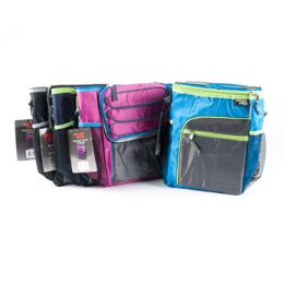 24 Units of Cooler 12 Can W/shoulder Strap Insulated 4 Asst Colors See N2 Collapsible - Cooler & Lunch Bags
