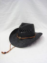 24 Units of Western Cowboy Hat In Black - Cowboy & Boonie Hat