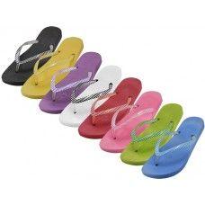 48 Units of Women's Soft Comfort Thong Flip Flops - Women's Flip Flops