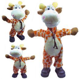 12 Units of Battery Operated Dancing Giraffe - Plush Toys