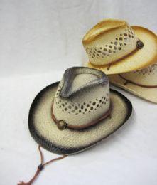 24 Units of Kid's Straw Cowboy Hat - Cowboy & Boonie Hat