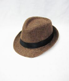 36 Units of Kid's Fedora Hat In Tweed Brown - Fedoras, Driver Caps & Visor