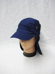 24 Units of Mens Boonie Hiking Hat In Navy Blue - Cowboy & Boonie Hat