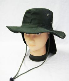 24 Units of Men's Cowboy Fishing Safari Boonie Hat In Olive - Cowboy & Boonie Hat
