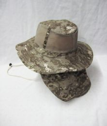 24 Units of Men's Mesh Boonie / Hiking Hat in Digital Camo - Cowboy & Boonie Hat