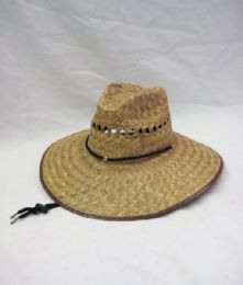 48 Units of Mens Straw Indiana Hat - Sun Hats