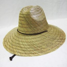 24 Units of Adults Straw Summer Sun Hat - Cowboy & Boonie Hat