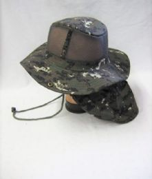 24 Units of Mens Net Boonie Hiker /Fisher Hat in Digital Camo - Cowboy & Boonie Hat