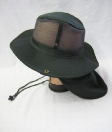 24 Units of Men's Net Boonie Hiker /Fisher Hat in Olive - Cowboy & Boonie Hat
