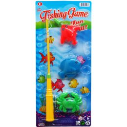 144 Units of Three Piece Fishing Game Set - Summer Toys