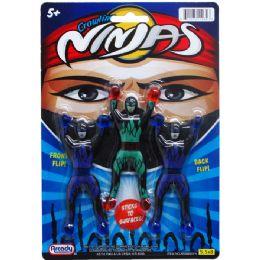 144 Units of 3 Piece Crawling Ninjas - Action Figures & Robots