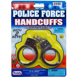 96 Units of Police Force Handcuffs - Toy Sets