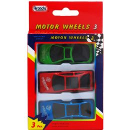 144 Units of Three Piece Motor Wheels - Cars, Planes, Trains & Bikes