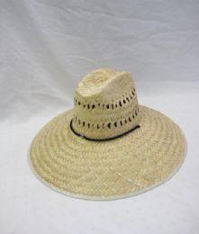 12 Units of Adult Straw Large Brim Sun Hat - Sun Hats