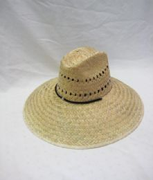 24 Units of Adults Large Brim Straw Summer Sun Hat - Sun Hats