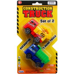 96 Units of Two Piece Construction Trucks Play Set - Cars, Planes, Trains & Bikes