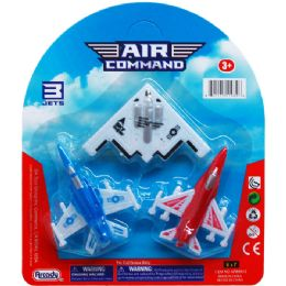 144 Units of Three Piece Air Command Plane - Cars, Planes, Trains & Bikes