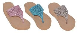 36 Units of ASSORTED COLOR SANDAL WITH WEDGE - Girls Flip Flops
