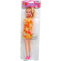"48 Units of 11.5"" STACY DOLL IN POLY BAG W/HEADER, ASSRT OUTFITS - Dolls"