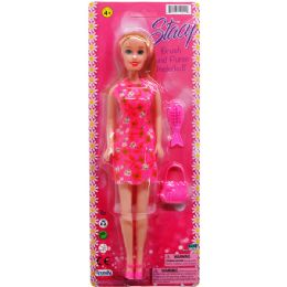 "48 Units of 11.5"" STACY DOLL W/ ACCSS ON BLISTER CARD, ASSRT OUTFITS - Dolls"