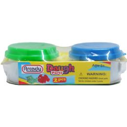 72 Units of 2 Piece Play Dough Set - Clay & Play Dough