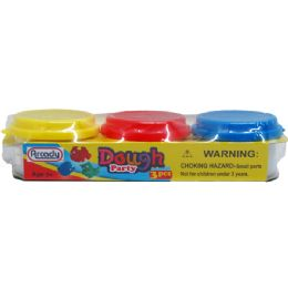 72 Units of 3 Piece Play Dough Set - Clay & Play Dough