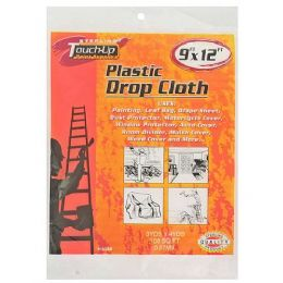 72 Units of 9 X 12' Plastic Drop Cloth - Hardware Products