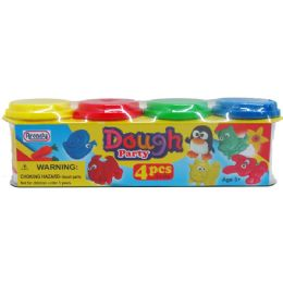 48 Units of 4 Piece Dough Play Set - Clay & Play Dough