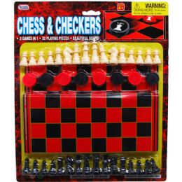 48 Units of 48 Piece Chess & Checkers - Dominoes & Chess