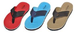 36 Units of Boys Assorted Color Flip Flop - Boys Flip Flops & Sandals