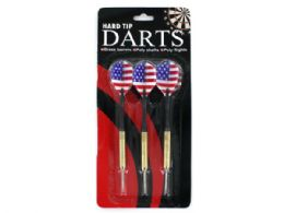 72 Units of Hard Tip Darts With American Flag Design - Darts & Archery Sets