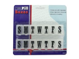72 Units of 7 Day Pill Boxes Set - Pill Boxes and Accesories