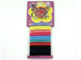 72 Units of Colored Elastic Hair Bands - Hair Scrunchies
