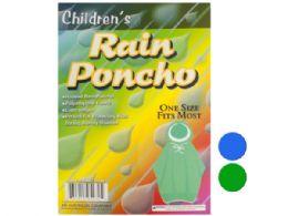 72 Units of Children's Hooded Rain Poncho - Umbrellas & Rain Gear