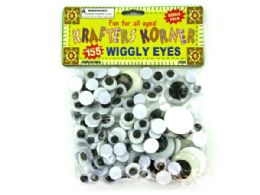72 Units of Plastic Craft Wiggly Eyes - Craft Kits