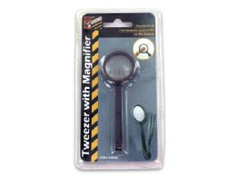 72 Units of Tweezers with Magnifier - Magnifying  Glasses