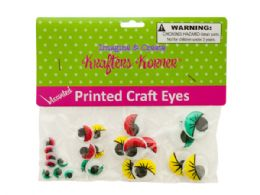 75 Units of Colored Wiggly Printed Craft Eyes - Craft Kits