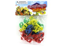 72 Units of Cowboys And Indians Play Set - Action Figures & Robots