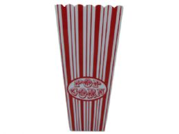 60 Units of 35 Oz. Red Striped Popcorn Bucket - Buckets & Basins